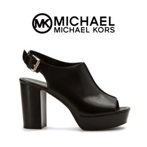 New!  Michael Kors piper Sling black block heel